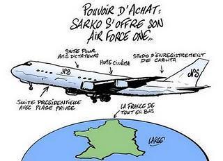 Air Sarko One est sur le tarmac