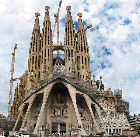 Sagrada familia, Passion facade - 300 megapixels