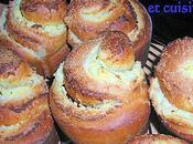 Escargots briochés Chocolat blanc Noix coco