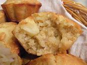 Muffins pommes, miel flocons d'avoine