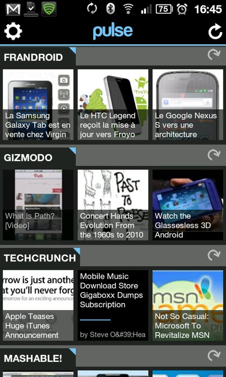 Pulse News, L'application «reader» imagée