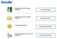 Doodle se connecte désormais avec Outlook, Google Apps, Yahoo, Icals