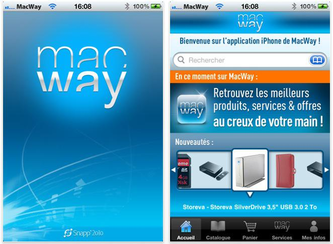 Macway lance son application iPhone, iPad et iTouch