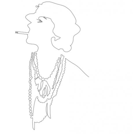Portrait de Coco Chanel par le Modalogue