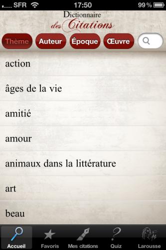 Larousse : Dictionnaire des citations, 10 licences de l'application à gagner