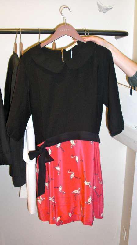 Robe flamant rose sandro