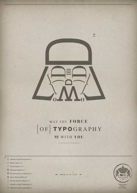 23 star wars 02 499x706 Que la force typographique soit avec toi !