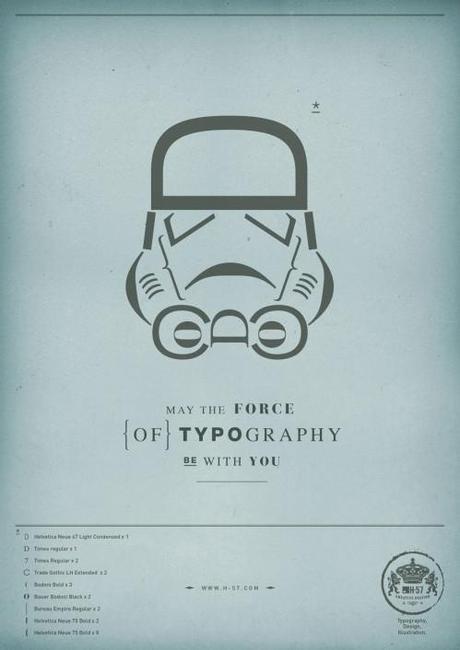 23 star wars 01 499x706 Que la force typographique soit avec toi !
