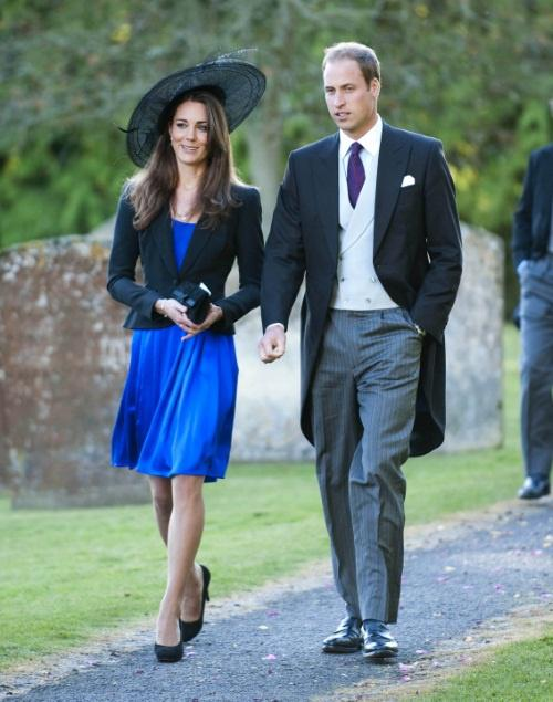 Photo by: MC/AAD/starmaxinc.com  2010  10/23/10 Prince William and Kate Middleton attend a wedding at the St. Peter and St. Paul church in Northleach. (Gloucestershire, England)  Photo via Newscom