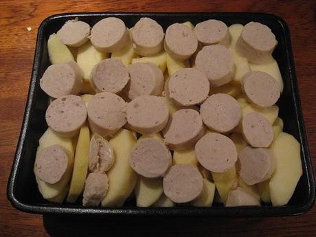 Crumble de boudins blancs aux pommes