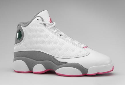 official photos 9bb17 7d81b Air Jordan XIII GS White Pink Grey