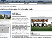 FAIL Publicitaire Come study Toronto most miserable city Canada