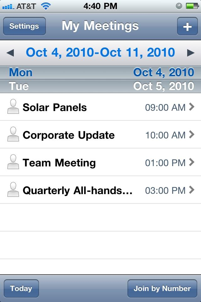 [iTunes] Cisco WebEx disponible sur iPhone et maintenant sur iPad.