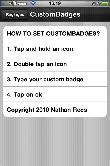 News Cydia : CustomBadges