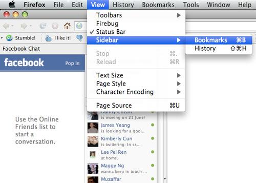 Comment Place Facebook Chat Sur Firefox Sidebar