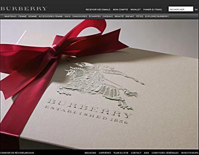 Les ventes en ligne de Burberry ont augmenté de 50% au premier semestre fiscal. ©www.burberry.com