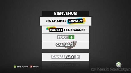 Canal+ et CanalSat disponibles sur la Xbox 360 de Microsoft