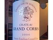 Retour Bourgogne, envie Bordeaux Saint Emilion Grand Corbin 2000