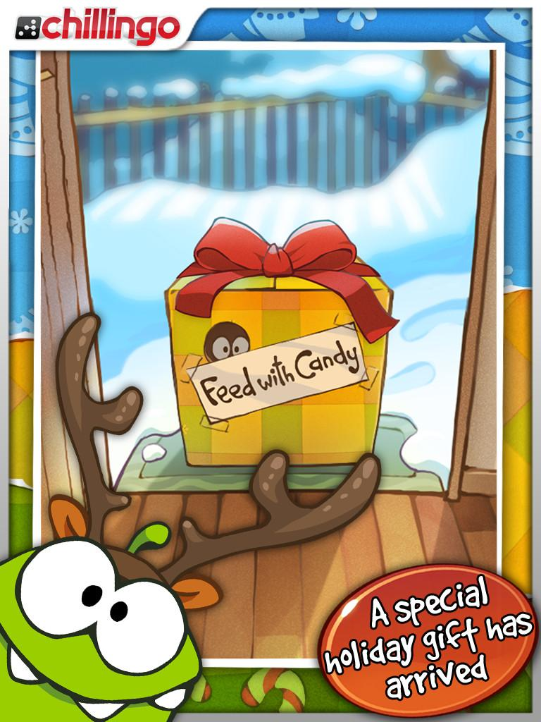 Cut the Rope: Holiday Gift – Chillingo Ltd : App. Gratuites pour iPhone, iPod !