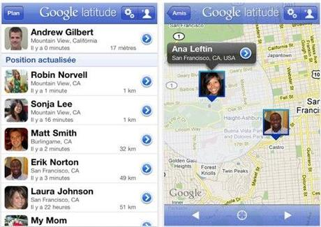 Google latitude s'installe sur l'iPhone