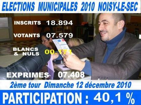Noisy-le-Sec bascule à droite avec Laurent Rivoire (NC) et Olivier Deleu (UMP) : La vidéo de la soirée électorale