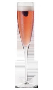 Cocktail Chambord et champagne