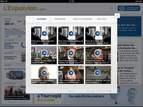 L'Expansion lance son application iPad