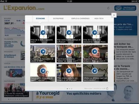 L'Expansion lance son application iPad