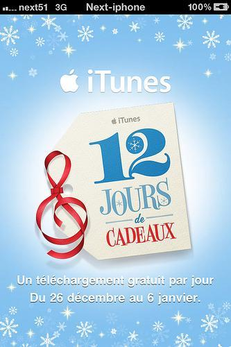 Les 12 jours cadeaux iTunes sur votre iPhone...