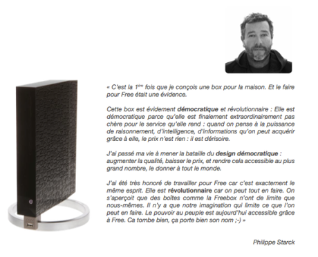 Nouvelle Freebox V6 par Philippe Starck
