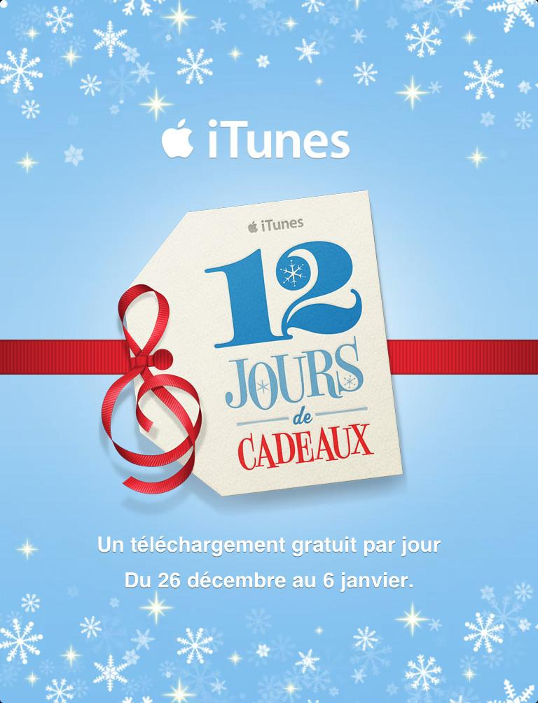 iTunes 12 Days of Christmas – iTunes : App. Gratuites pour iPhone, iPod !