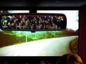 cinéma, Europcar spectateurs dans rétroviseur