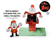Père Peb&Fox; papertoy Noël