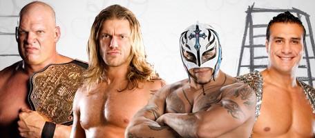 Kane, Edge, Rey Mysterio et Alberto Del Rio. Championnat du monde des Poids Lourds - TLC 2010