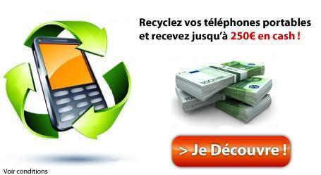 Recyclage téléphones mobiles usagés