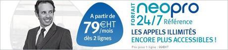 Forfait mobile Neo Pro 24/7 Référence illimité 24h/24 tous opérateurs en France avec Bouygues Telecom Entreprises