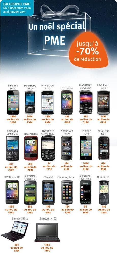 Promos Bouygues Telecom BlackBerry iPhone Samsung Nokia