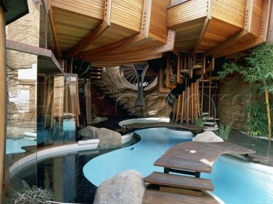 Frank lloyd wright la maison sur cascade interieur for Piscine interieur