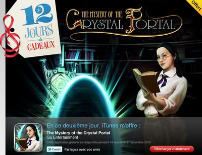 12 jours de cadeaux iTunes : The Mystery of the Crystal Portal offert ce lundi