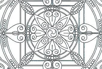 Mandala du flocon de neige colorier paperblog - Flocon de neige a colorier ...