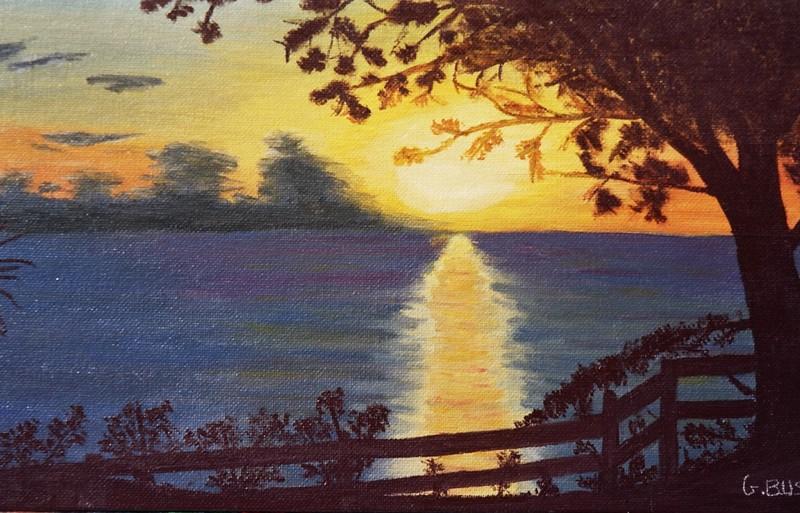 BOUILLANTE : coucher de soleil en peinture - Paperblog