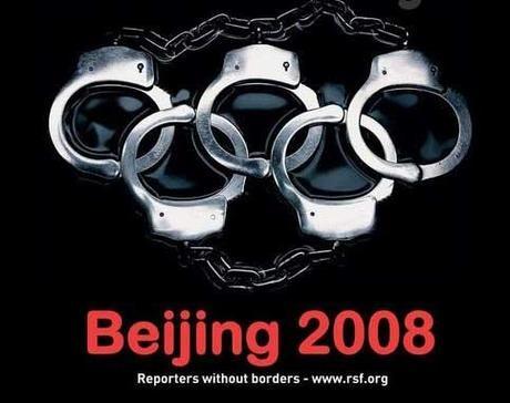 Publicité Reporters Sans Frontières Beijing 2008