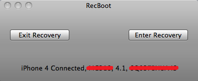 RecBoot 2.1 disponible (pour Mac OS X)