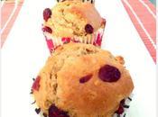 Muffins chocolat blanc, cranberries flocons d'avoine