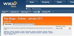 Wikio top 100 blogs suisses