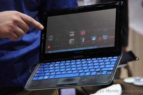 CES 2011 : Samsung aussi présente une tablette tactile avec clavier coulissant, le Sliding PC 7
