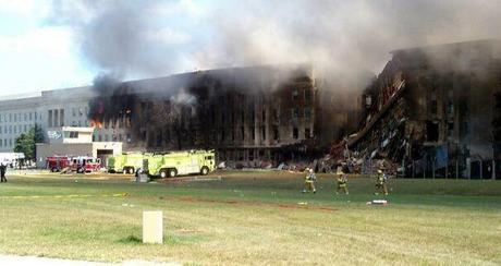 Le gazon intact juste après l'attaque du 11 septembre sur le pentagone