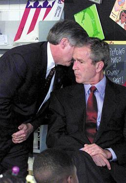 Bush a Saratosa le 11 septembre