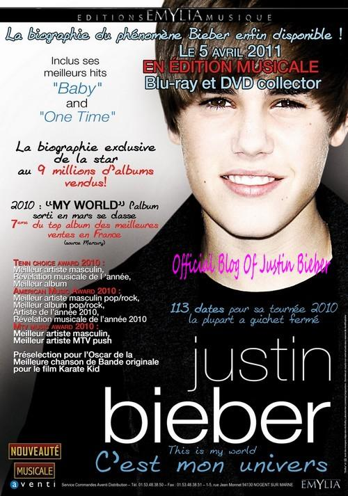 Justin Bieber : Son DVD biographique bientôt disponible !
