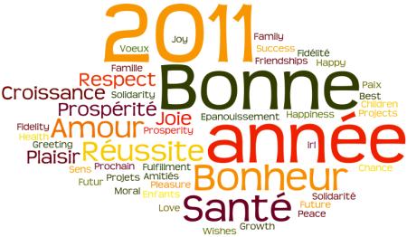 Meilleurs voeux pour l'année 2011 !